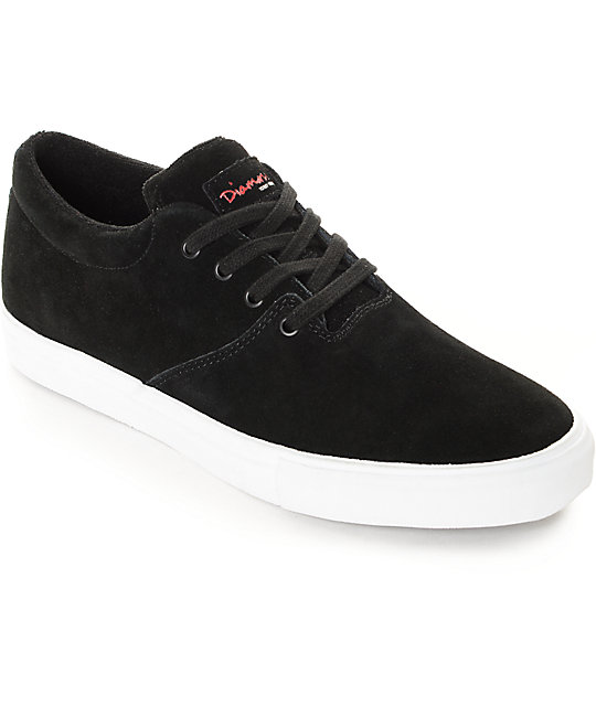 Diamond Supply Co Torey Black & White Suede Skate Shoes ... - photo#17