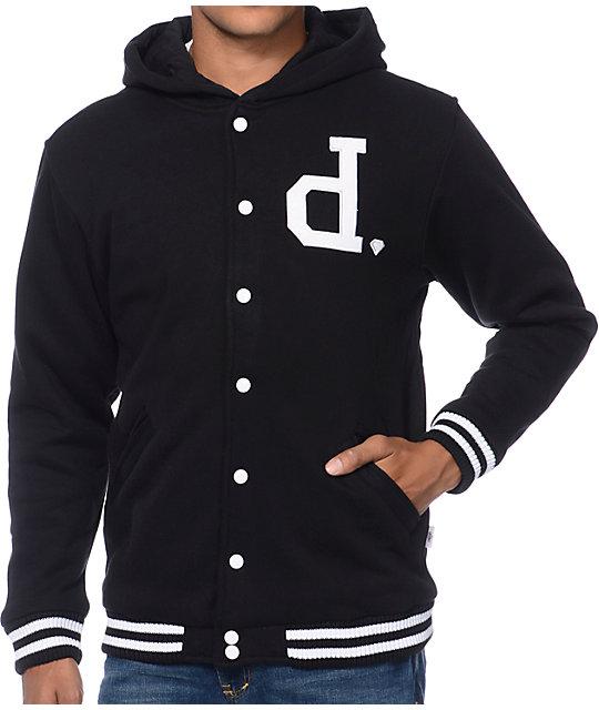Diamond Supply Co Un Polo Black Fleece Jacket