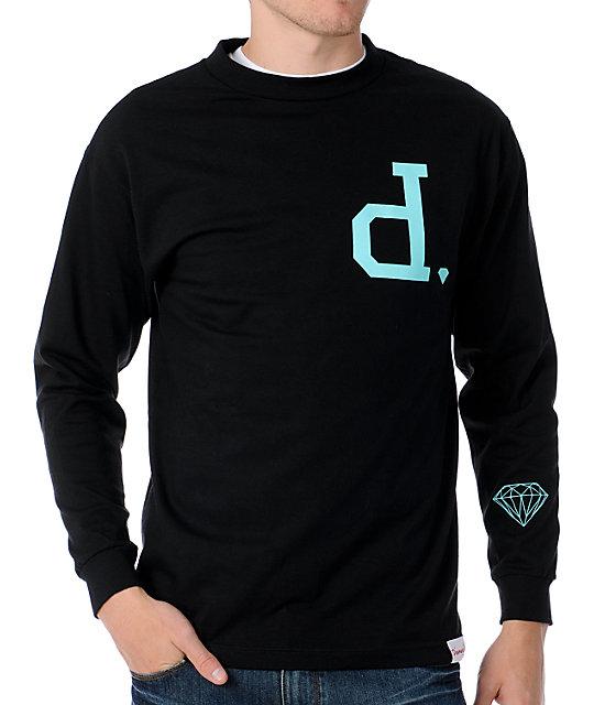 Diamond supply co un polo black long sleeve t shirt for Diamond supply co polo shirts