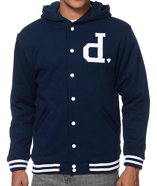 Diamond Supply Co Un Polo Blue Fleece Jacket