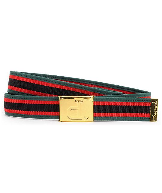 Diamond Supply Co Un Polo Gold & Green Belt