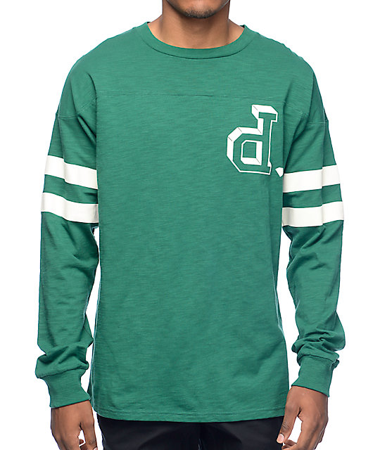 Diamond Supply Co Un-Polo Green Football Long Sleeve T-Shirt at ...