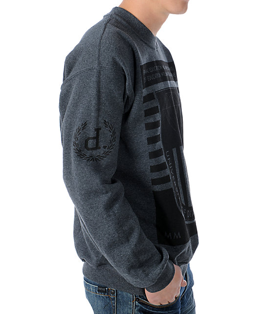 Diamond Supply Co University 2 Charcoal Crew Neck Sweatshirt