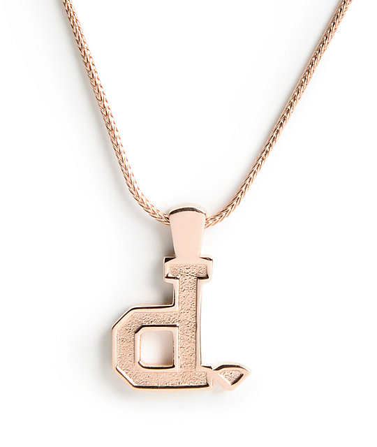 Diamond Supply Co Unpolo Rose Gold Necklace