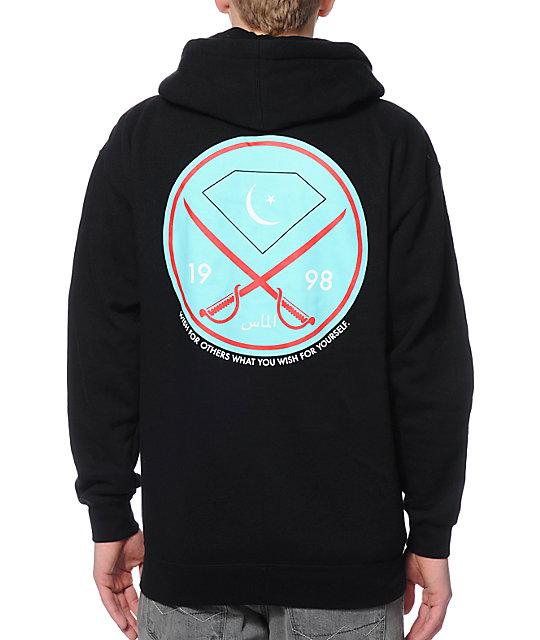 Diamond supply zip up hoodie