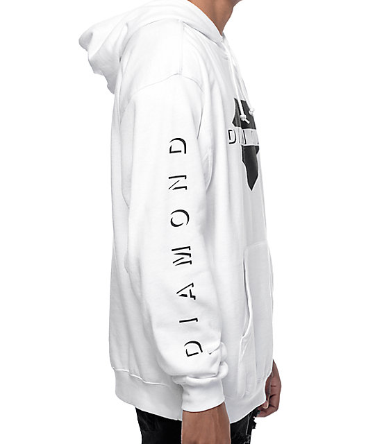 Diamond Supply Co Viewpoint White Hoodie