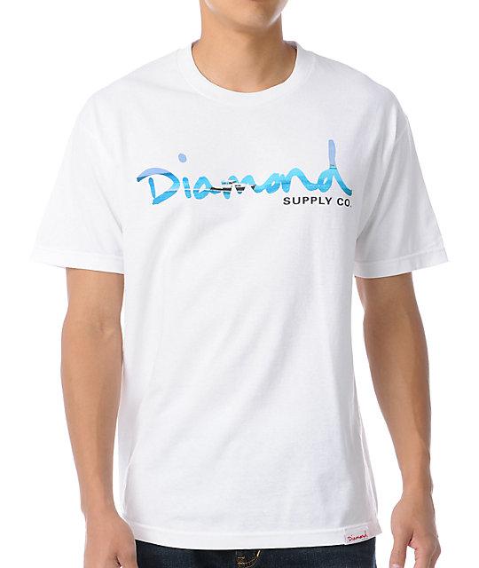 Diamond Supply Co White OG Yacht T-Shirt