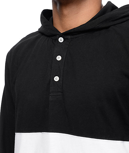 Diamond Supply Co Winston Black Hooded Long Sleeve T-Shirt