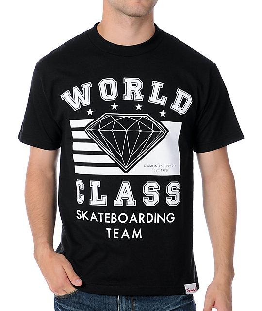 Diamond Supply Co World Class Black T-Shirt