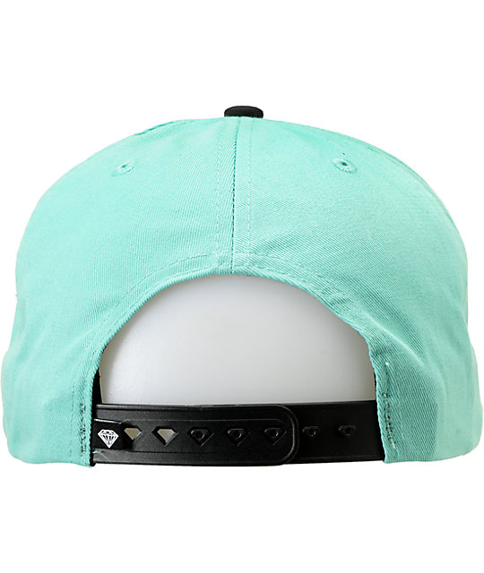 Diamond Supply Co World Class Mint & Black Snapback Hat