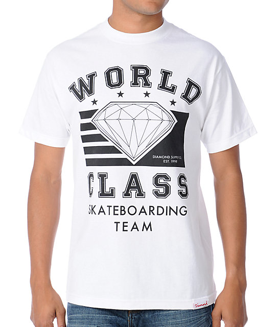 Diamond Supply Co World Class White T-Shirt