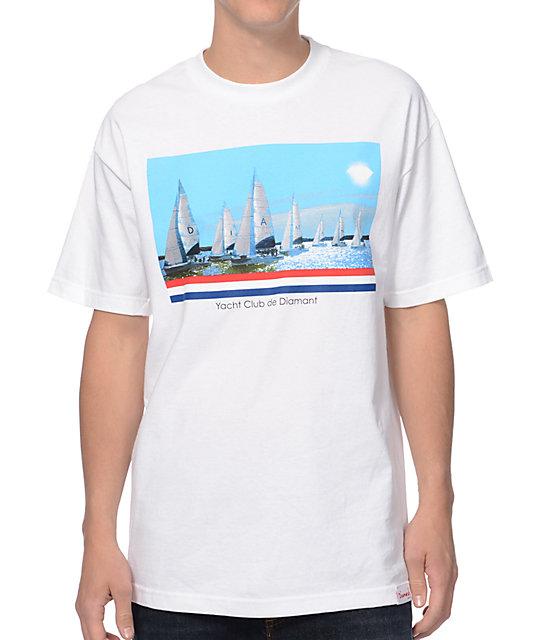 Diamond Supply Co Yacht Club De Diamant White T-Shirt