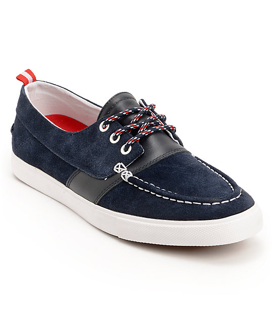 Diamond Supply Co Yacht Club Navy Suede Boat Shoes