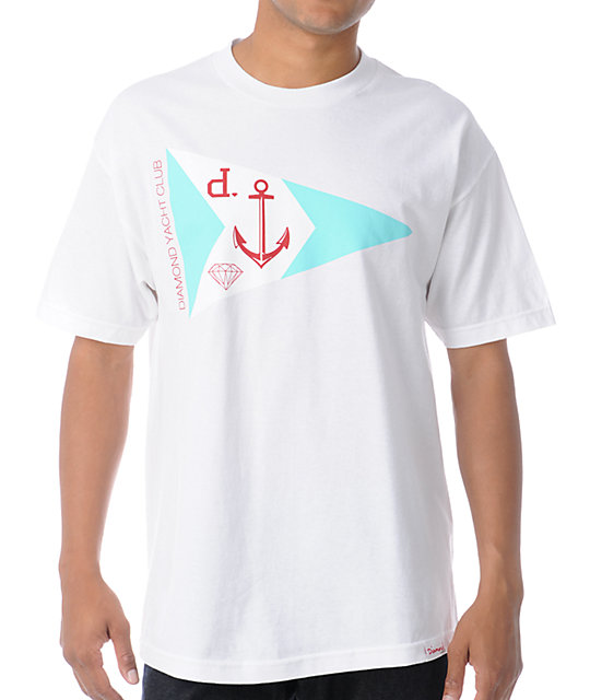 Diamond Supply Co Yacht Club White T-Shirt