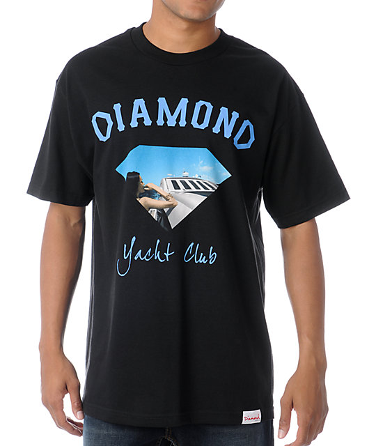 Diamond Supply Co Yacht Girl Black T-Shirt