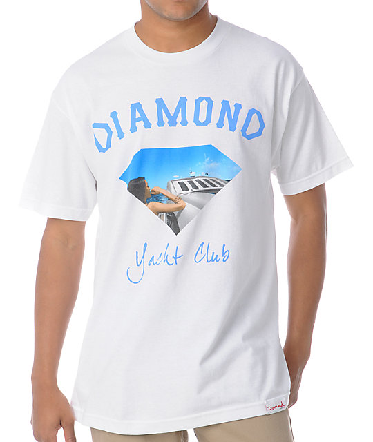 Diamond Supply Co Yacht Girl White T-Shirt