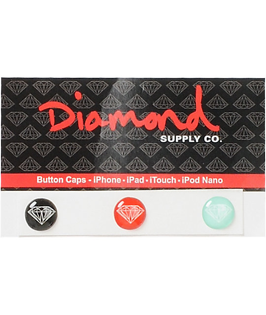 Diamond Supply Co iPhone Home Button Sticker Pack