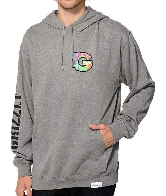 diamond supply co x grizzly tie dye g hoodie at zumiez pdp