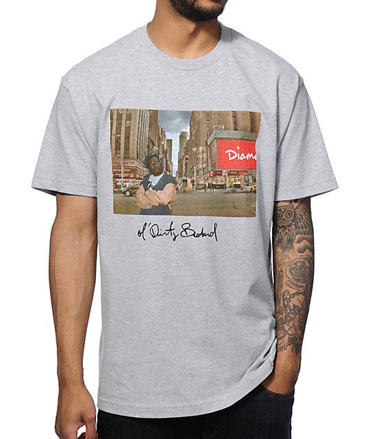 Diamond supply co x odb district t shirt for Wholesale diamond supply co shirts