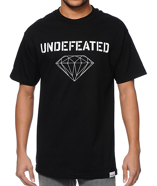 Diamond Supply Co x Undefeated Multi Logo Black T-Shirt