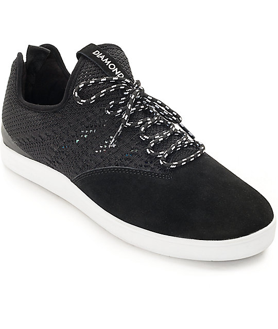 Diamond Supply Co. All Day Black & White Suede Skate Shoes ... - photo#1