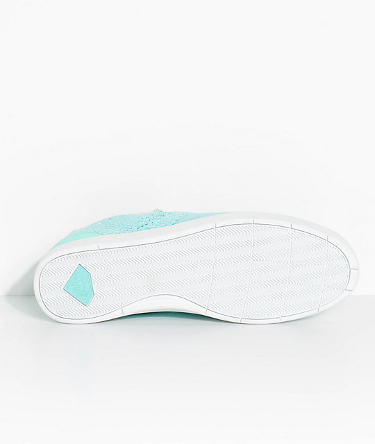 Diamond Supply Co. All Day Diamond Blue, White, Knit & Suede Skate Shoes