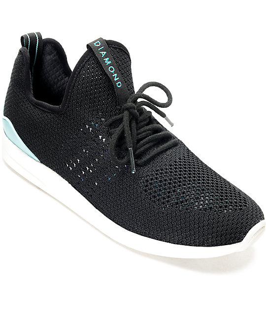 Diamond Supply Co. All Day Lite Black & White Knit Shoes - photo#49