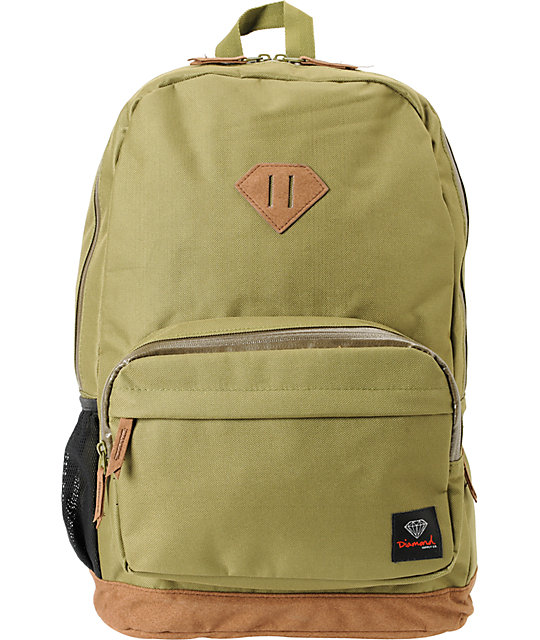 Diamond Supply Co. Army Green Laptop Backpack