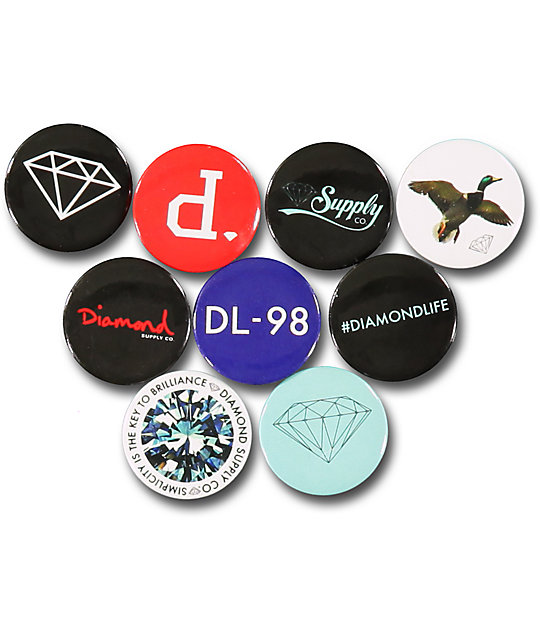 Diamond Supply Co. Assorted Button Pack