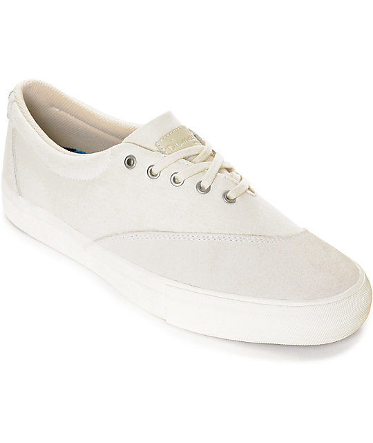 Diamond Supply Co. Avenue Off White Canvas & Suede Skate Shoes