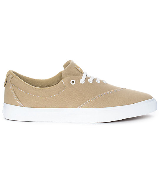 Diamond Supply Co. Avenue Tan & White Canvas Skate Shoes