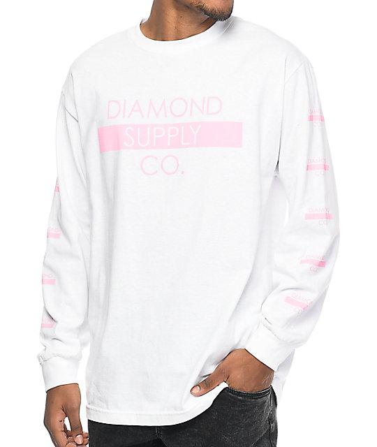Supply Co. Bar Logo White Long Sleeve T-Shirt