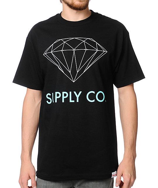 Diamond Supply Co. Black & Mint T-Shirt