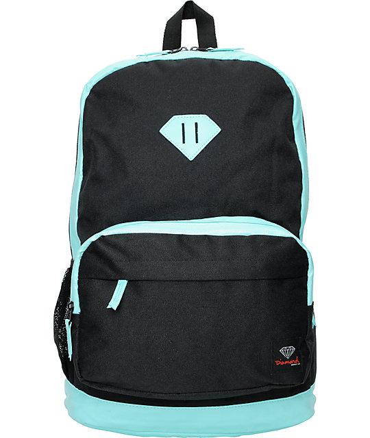 Diamond Supply Co. Black & Turquoise School Life Backpack