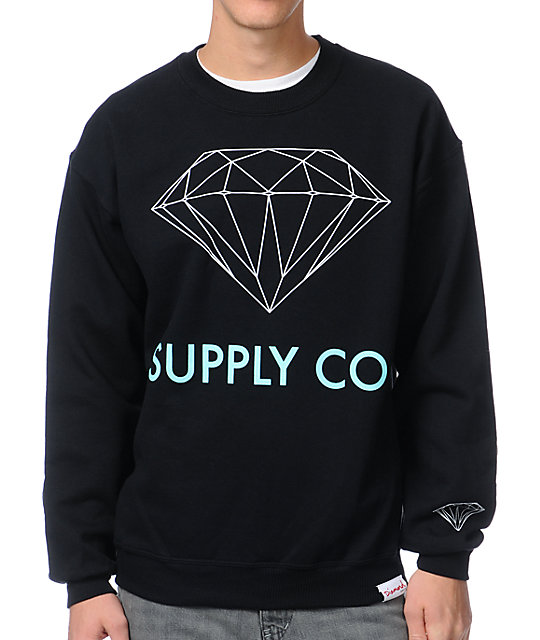 Diamond Supply Co. Black Crew Neck Sweatshirt