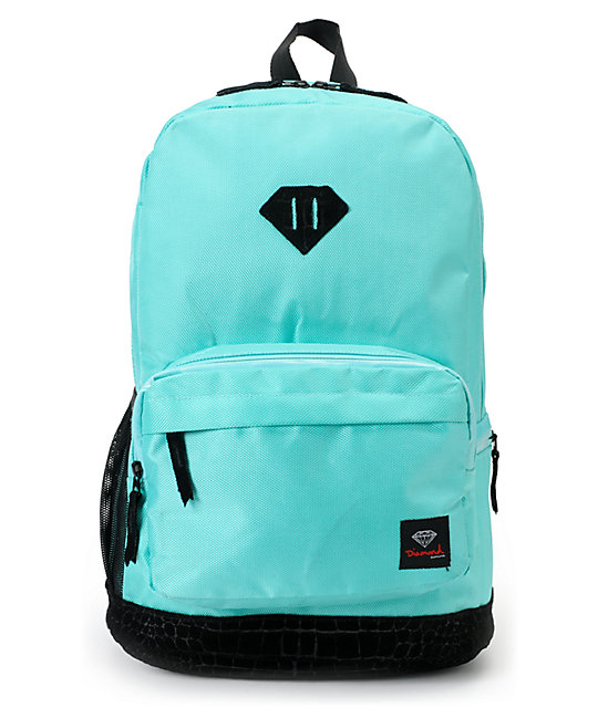 Diamond Supply Co. Blue & Black Croc School Life Backpack at ...