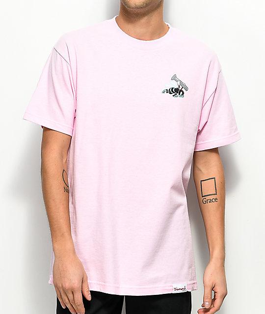 Diamond Supply Co. Blue Hornets Pink T-Shirt | Zumiez