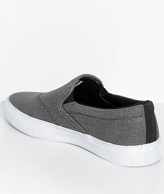 Diamond Supply Co. Boo-J Lite Washed Black & White Slip-On Skate Shoes