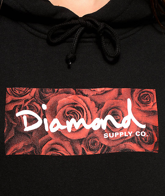 Diamond Supply Co. Bouquet Box Logo Black Hoodie