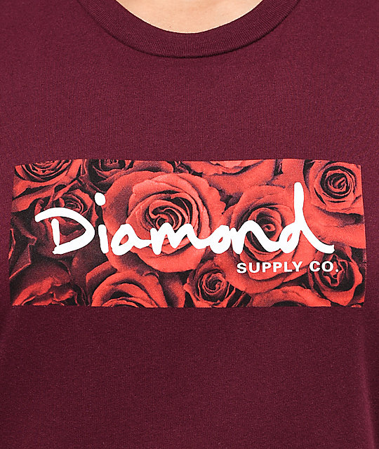 Diamond Supply Co. Bouquet Box Logo Rose T-Shirt