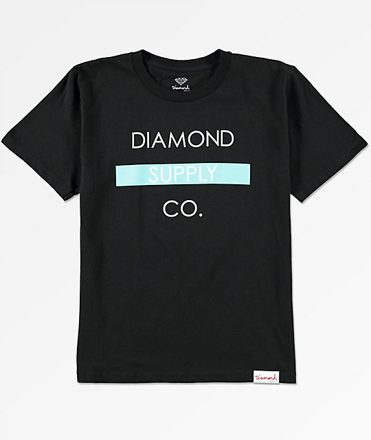 Diamond Supply Co. Boys Bar Logo Black T-Shirt