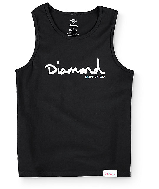 Diamond Supply Co. Boys OG Script Black Tank Top