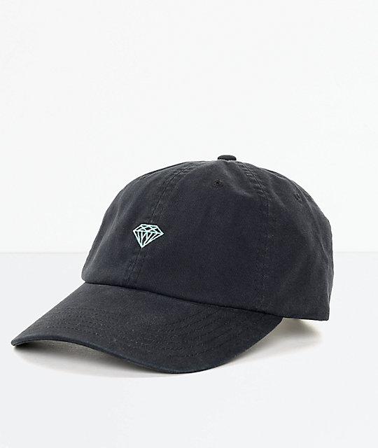 Diamond Supply Co Brilliant Black Amp Blue Strapback Hat