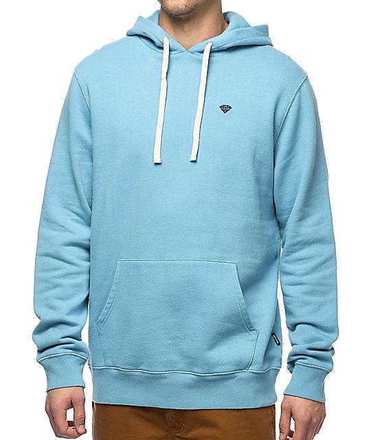 diamond supply co brilliant cruiser light blue hoodie