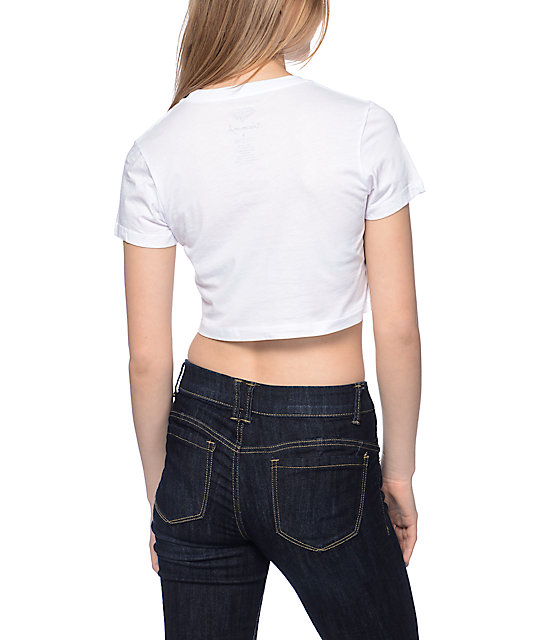 Diamond Supply Co. Brilliant White Crop T-Shirt