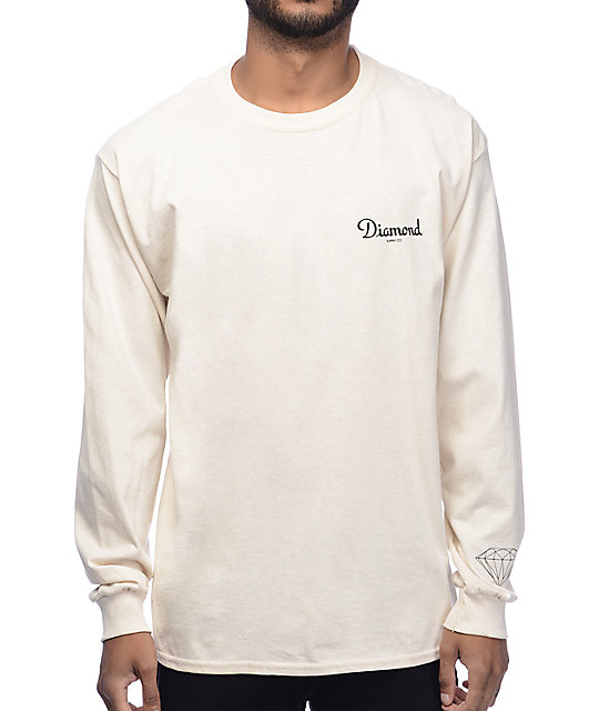 Diamond Supply Co. Champagne Cream Long Sleeve T-Shirt at Zumiez : PDP
