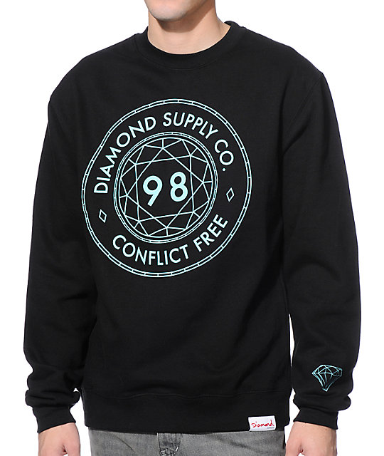 Diamond Supply Co. Conflict Free Black Crewneck Sweatshirt