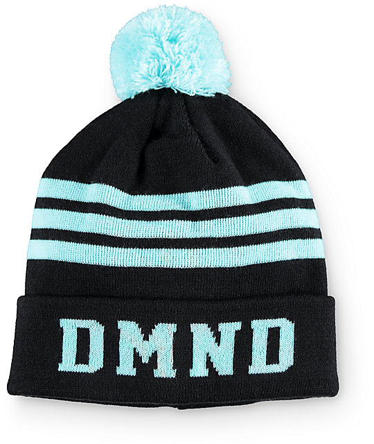 Diamond Supply Co. DMND Black & Mint Stripe Beanie