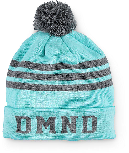 Diamond Supply Co. DMND Mint & Grey Stripe Beanie