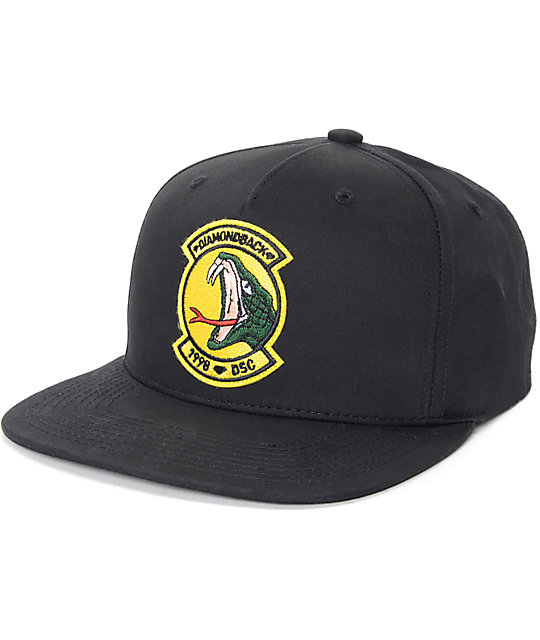 Diamond Supply Co. Diamond Back Black Baseball Hat